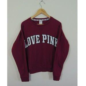 Pink Victorias Secret Womens M Crewneck Sweatshirt